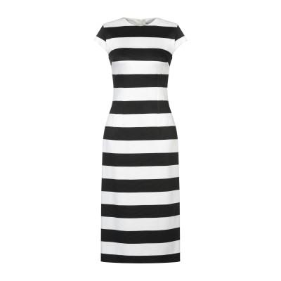 ALTEЯƎGO 7分丈ワンピース・ドレス ブラック 42 レーヨン 87% / ナイロン 9% / ポリウレタン 4% 7分丈ワンピース・ドレス