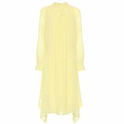 クロエ Chloe レディース ワンピース ワンピース・ドレス Silk crepe midi dress Sunlit Green