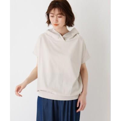 SHOO・LA・RUE / コットン混抜き衿Tシャツ WOMEN トップス > Tシャツ/カットソー