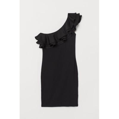 H&M - ワンショルダーワンピース - ブラック