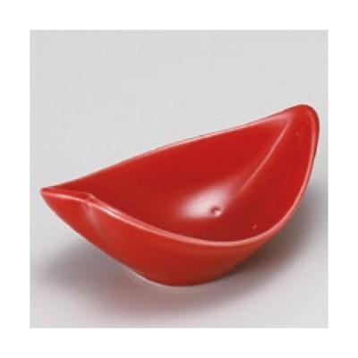 小鉢 花びら(赤)珍味  幅95mm×奥行60mm×高さ35mm/業務用/新品