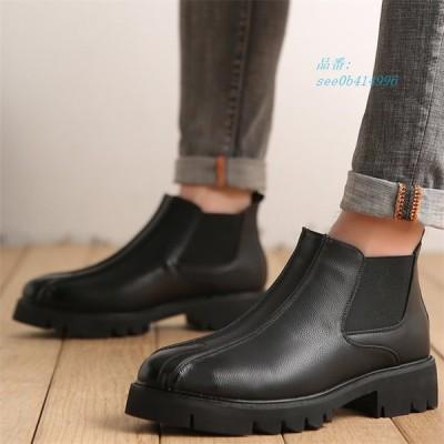 メンズ ブーツ ショートブーツ ブーティー 革靴 カジュアル オシャレ男子靴 サイドゴアブーツ