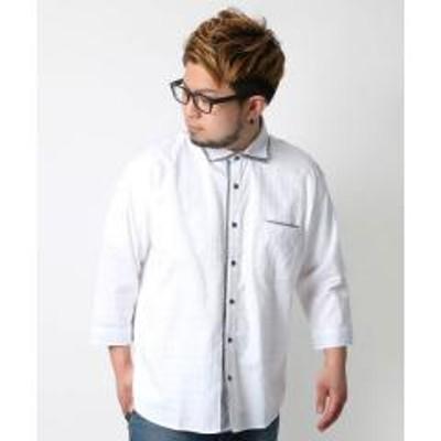 MARUKAWA(マルカワ)大きいサイズ 7分袖 シャツ 2枚衿