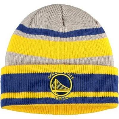 ニューエラ メンズ 帽子 アクセサリー Golden State Warriors New Era Layer Cuffed Knit Hat Gray