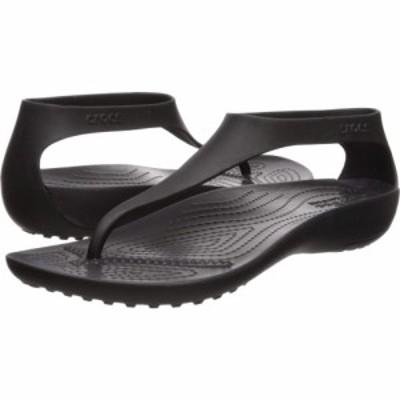 クロックス Crocs レディース ビーチサンダル シューズ・靴 Serena Flip Black/Black