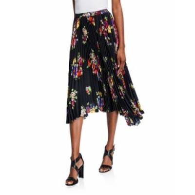 ケイトスペード レディース スカート ボトムス rare roses pleated asymmetric midi skirt BLACK