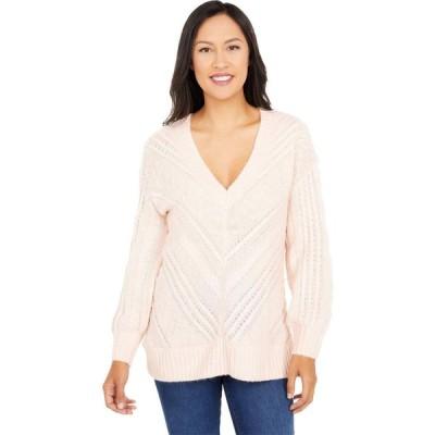 ラッキーブランド Lucky Brand レディース ニット・セーター Vネック トップス Textured V-Neck Sweater Blushing Pink