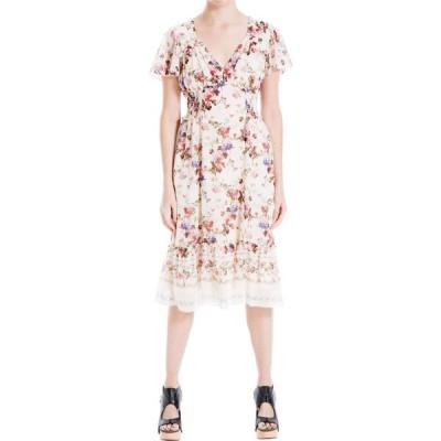 マックススタジオ MAXSTUDIO レディース ワンピース ミドル丈 ワンピース・ドレス High-Low Ruffle Detail Midi Dress Vintage Dahlia