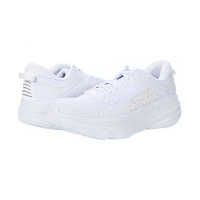 Hoka One One ホカオネオネ メンズ 男性用 シューズ 靴 スニーカー 運動靴 Bondi 7 - White/White