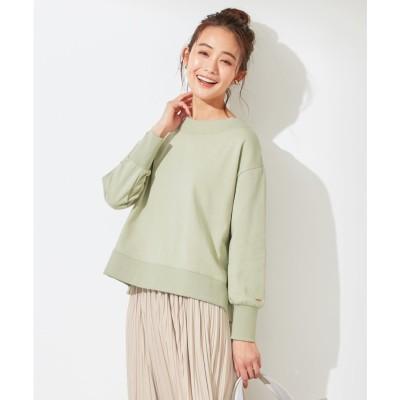 any SiS 【洗える】ベーシック裏毛 トップス (ライトカーキ)