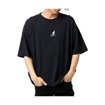 [カンゴール] Tシャツ メンズ 半袖 無地 おしゃれ カジュアル カットソー 柔らかい クルーネック 刺繍 ロゴ (S:(身丈66cm 肩幅62cm