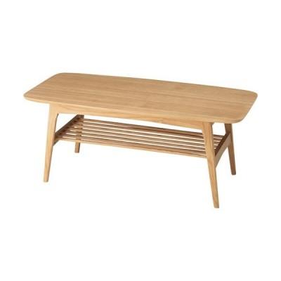 センターテーブル テーブル リビングテーブル ローテーブル 木製 棚付 ヘンリー 幅105cm 机 つくえ リビング 棚付き 収納付き リモコン収納 小物収納