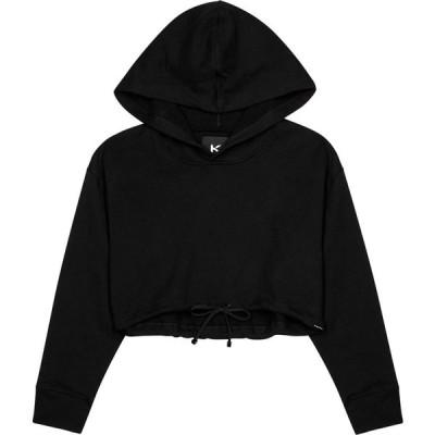 コラール Koral Activewear レディース ベアトップ・チューブトップ・クロップド トップス Clover Black Cropped Jersey Sweatshirt Black