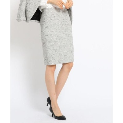 スカート ミックスツイードタイトスカート