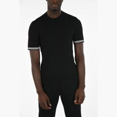 NEIL BARRETT/ニール バレット セーター Black メンズ 秋冬2019 Short Sleeve Sweater with Contrasting Trimmings dk