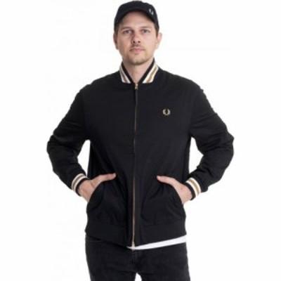 フレッドペリー Fred Perry メンズ ブルゾン ミリタリージャケット アウター - Tennis Bomber Black - Jacket black