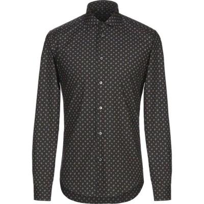 ブライアン デールズ BRIAN DALES メンズ シャツ トップス patterned shirt Black