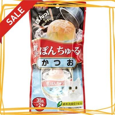 いなば 猫用おやつ 贅沢 ぽんちゅる かつお 35g2個入6個 (まとめ買い)