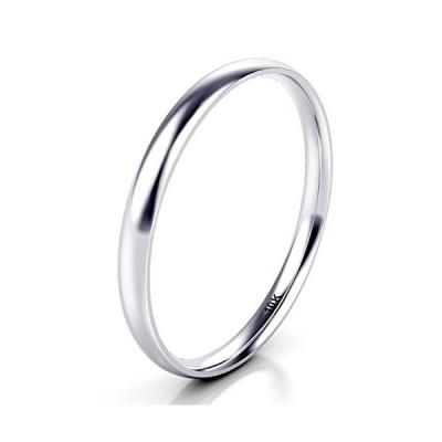 10K ホワイト/イエロー/ローズゴールド 2mm ラウンドドーム 結婚指輪並行輸入品