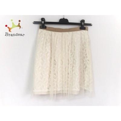アプワイザーリッシェ スカート サイズ2 M レディース 美品 アイボリー×ライトブラウン     スペシャル特価 20200510