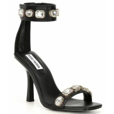 スティーブ マデン レディース サンダル シューズ Sashay-R Jewel Embellished Ankle Strap Dress Sandals Black/Multi