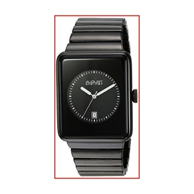 August Steiner Men's Rectangular Watch - Unique Dial and Expansion Stainless Steel Bracelet - AS8181【並行輸入品】