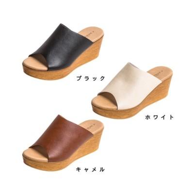 【アールエムストア】 サンダル レディース 日本製 7cm 厚底 ウエッジソール/ 靴 レディースシューズ 婦人靴 レディース ホワイト S RM STORE