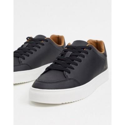 ベンシャーマン Ben Sherman メンズ スニーカー レースアップ シューズ・靴 minimal lace up trainers in black ブラック