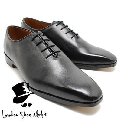 Oxford & Derby 1004 マッケイ製法ホールカットレースアップ  ブラック 本革ビジネスシューズ ビジネス ドレス 紐靴 革靴 仕事用 メンズ