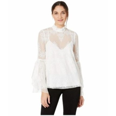 BCBGMAXAZRIA ビーシービージーマックスアズリア 服 一般 Ruffled Neck Embroidered Top