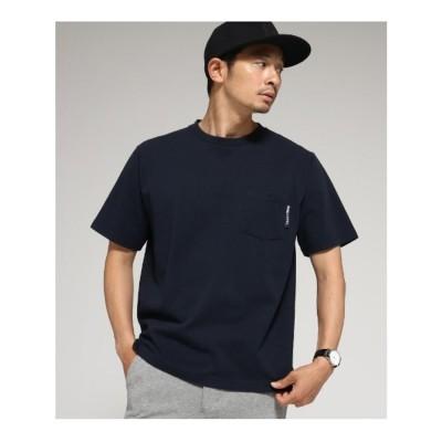 ベース コントロール BASE CONTROL 【WEB限定】半袖 ヘビーウェイトポケットTシャツ クルーネック (ネイビー)