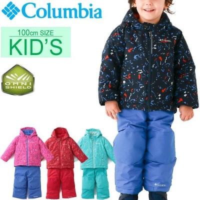 キッズ ベビー スノーウェア ジャケット カバーオール 2点セット 男の子 女の子 子ども コロンビア Columbia フロスティスロープセット 子供服 3T /SC1092-