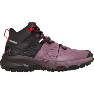 サロモン Salomon レディース ハイキング・登山 ブーツ シューズ・靴 Odyssey Mid GTX Hiking Boot Black/Flint/High Risk Red