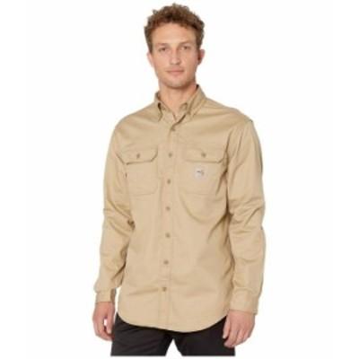 カーハート メンズ シャツ トップス Flame-Resistant Classic Twill Shirt Khaki