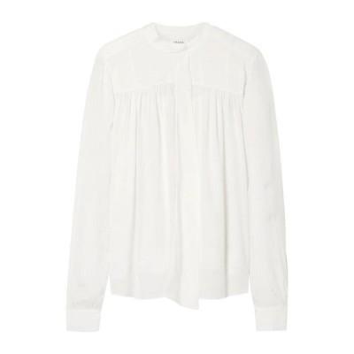 FRAME シルクシャツ&ブラウス ファッション  レディースファッション  トップス  シャツ、ブラウス  長袖 アイボリー