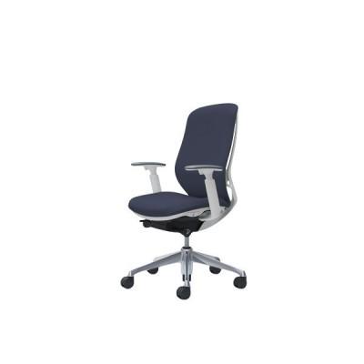 オフィスチェア デスクチェア オカムラ シルフィー 可動肘 背クッション ハイ C687BWFXW4 インディゴ オフィスチェア
