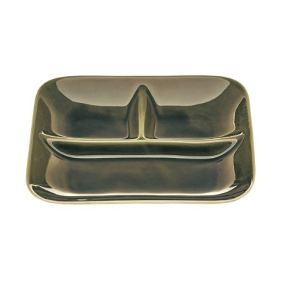 洗い物が減る仕切り付きランチプレート2枚セット グリーン