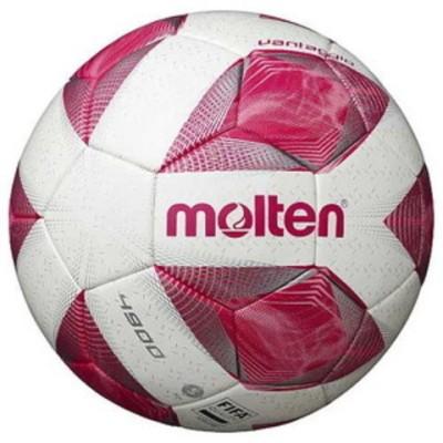 モルテン サッカーボール 5号球 (人工皮革) Molten ヴァンタッジオ4900 土用(スノーホワイトパール×ピンク) F5A4901-P 【返品種別A】