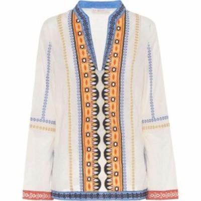 トリー バーチ Tory Burch レディース トップス Stephanie embroidered cotton top New Ivory