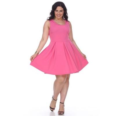 ホワイトマーク レディース ワンピース トップス Women's Plus Size Crystal Dress