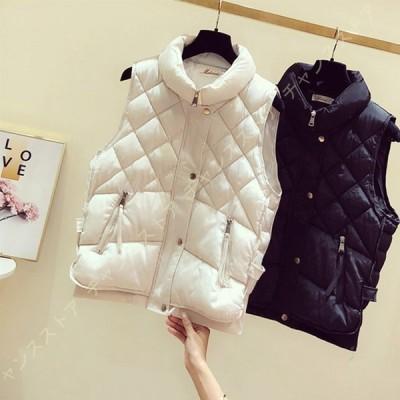 ダウンベスト レディース ウルトラライトダウン 軽量 防寒 ダウンジャケット 暖かい 通勤 カジュアル 登山 レースアップ かわいい 中綿コート ファッション