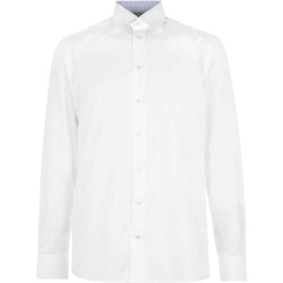 イートン Eton メンズ シャツ トップス geo tipped shirt White