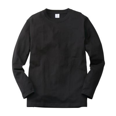 スーパーヘビーウェイト綿100%長袖クルーネックTシャツ Tシャツ・カットソー, T-shirts,
