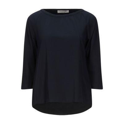 LA FILERIA T シャツ ダークブルー 40 コットン 80% / ポリウレタン 20% T シャツ
