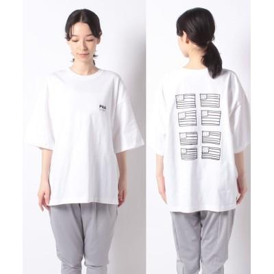 (FILA(Casual)/フィラ カジュアル)ハンソデTシャツ/レディース ホワイト