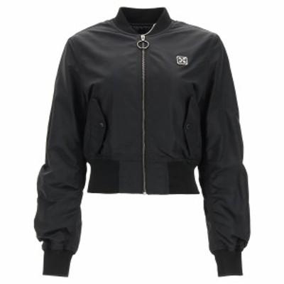 OFF WHITE/オフホワイト Black Off-white bomber jacket レディース 春夏2021 OWEH017S21FAB001 ik
