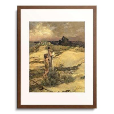 ジャン=シャルル・カザン Jean-Charles Cazin 「Hagar and Ishmael in the desert. (undated)」