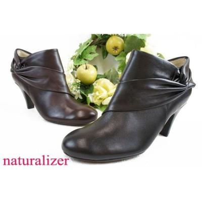 ナチュラライザー N180 リボン付きブーティー naturalizer レディース BOOTS ショートブーツ エレガントサイドファスナー付き BL(ブラック)・DN(ダークブラウン)
