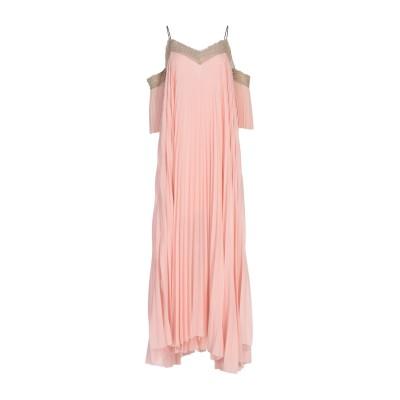 メルシー ..,MERCI ロングワンピース&ドレス ピンク 44 レーヨン 97% / ポリウレタン 3% ロングワンピース&ドレス