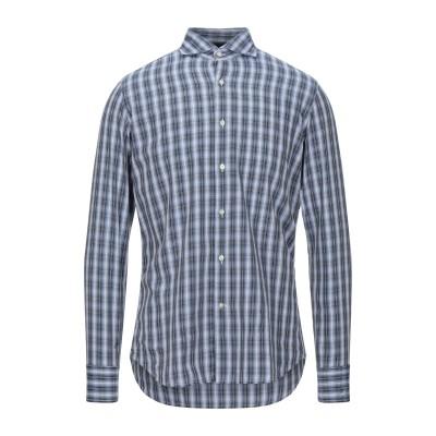 HARRY BROOK シャツ ブルーグレー 38 コットン 100% シャツ